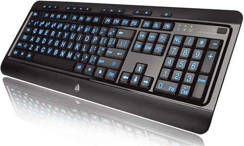Review Azio Large Print Keyboard USB Computer Keyboard