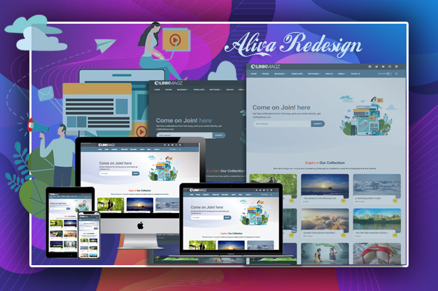 Linkmagz Redesign  Responsive Blogger Template