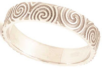 Celtic Wedding Bands - Newgrange Spiral