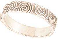 Celtic Wedding Bands - Newgrange Spiral