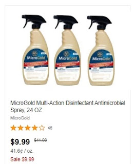 free Microgold Disinfectant Spray