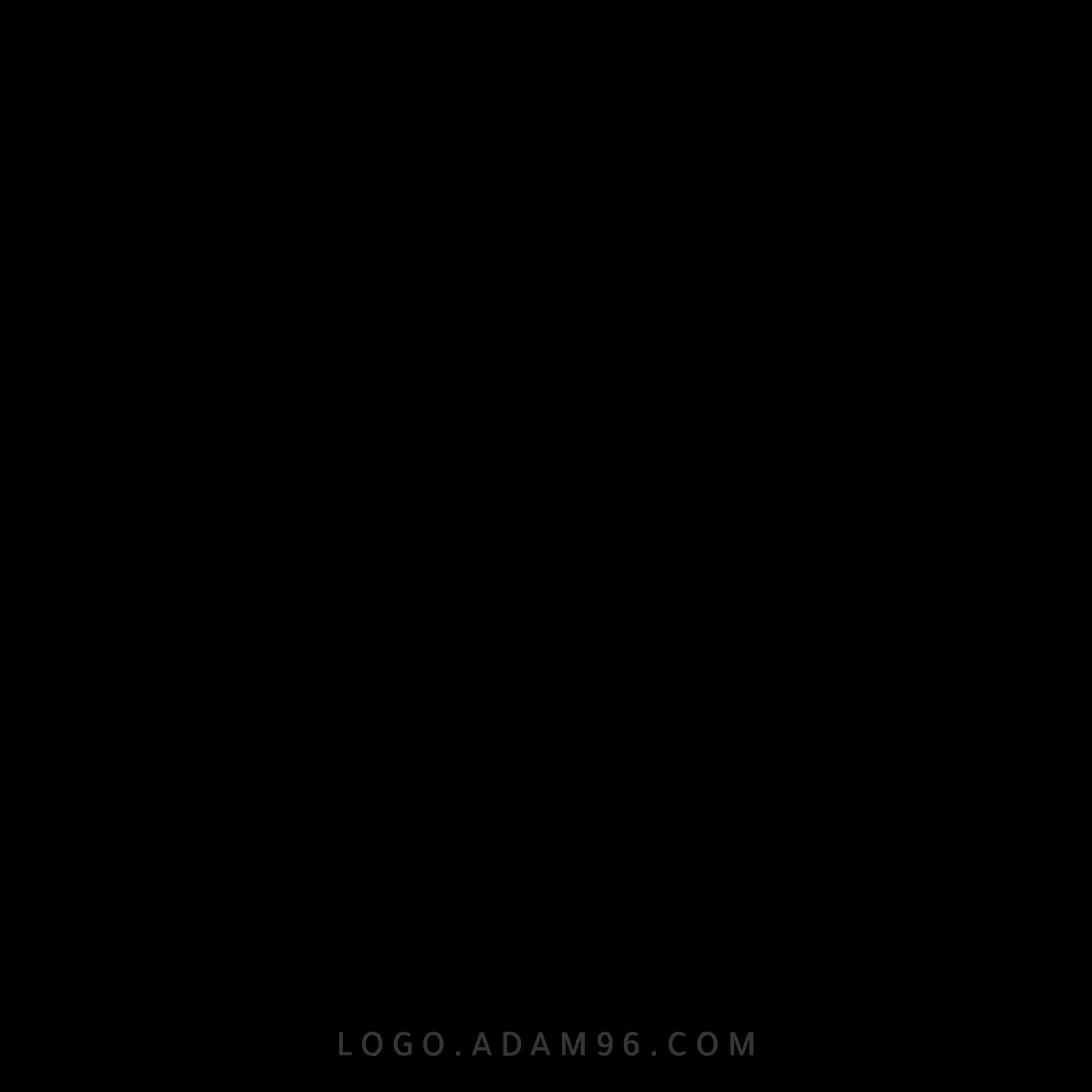 تحميل شعار يوتيوب اسود لوجو رسمي عالي الدقة بصيغة شفافة PNG