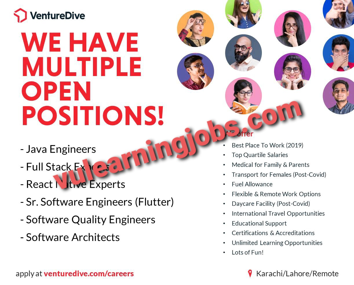 Venture Dive Jobs May 2021 Latest | Apply Now