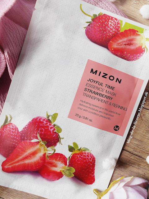 Mizon Joyful Time Strawberry plátenková maska so zjemňujúcim a hydratačným účinkom recenzia