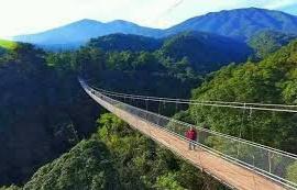 gambar jembatan gantung terpanjang di Asia