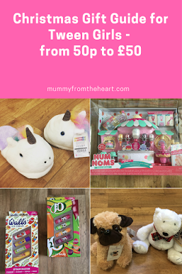 Christmas gift guide full of ideas to buy your tween girl (ages about 8 - 12 years), Gifts from 50p to £50
