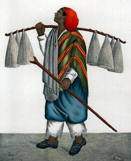 Vendedor de velas. Litografía de César Hipólito Bacle