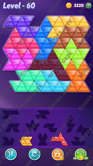 Block! Triangle Puzzle Challenger Level 60 Solution, Cheats, Walkthrough for Android, iPhone, iPad and iPod