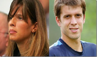 Gilles Muller Wife Alessia Fauzzia In Collage With Her Husband