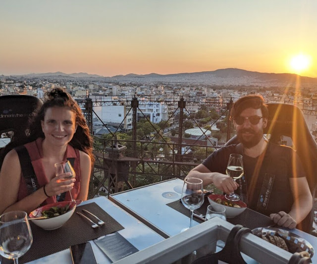 Dinner in the sky in Athens city