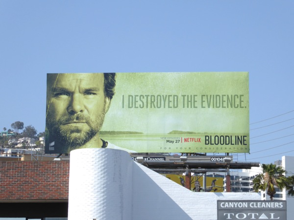 Bloodline season 2 destroyed the evidence billboard