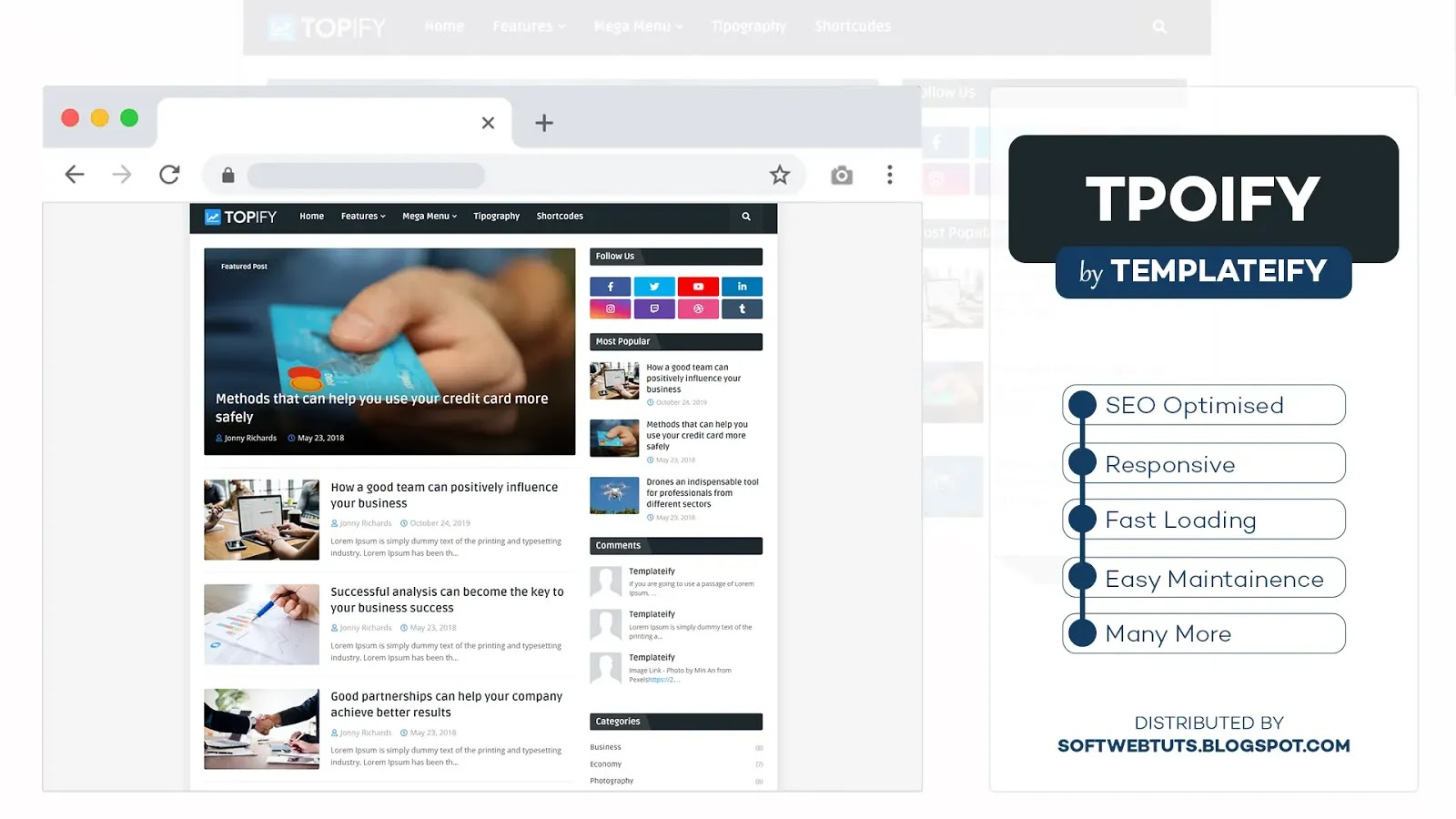 Topify - Responsive Blogger Template