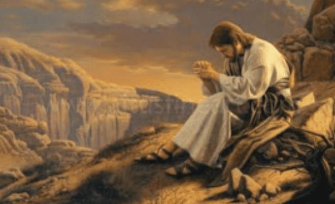 yesus berdoa,