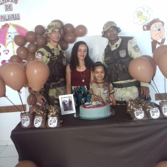 Cipe Chapada faz surpresa de aniversário para menina de 7 anos em Ruy Barbosa