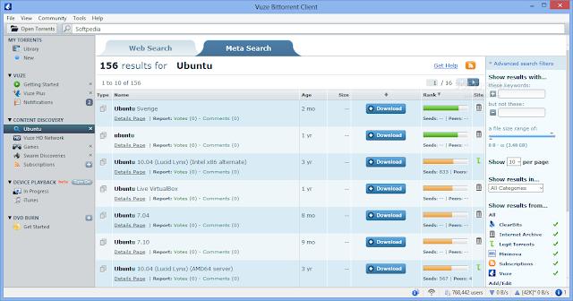 تحميل اقوى برامج التورنت للكمبيوتر برابط مباشر Vuze Bittorrent Client 5.7.1.0