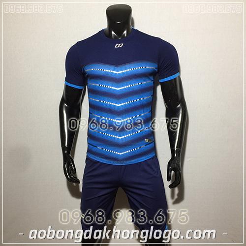 Áo bóng đá ko logo CP LEG màu tím than