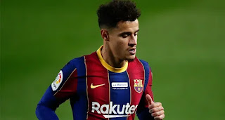 Barcelona forward Coutinho 'suffers a setback' in his recovery.
