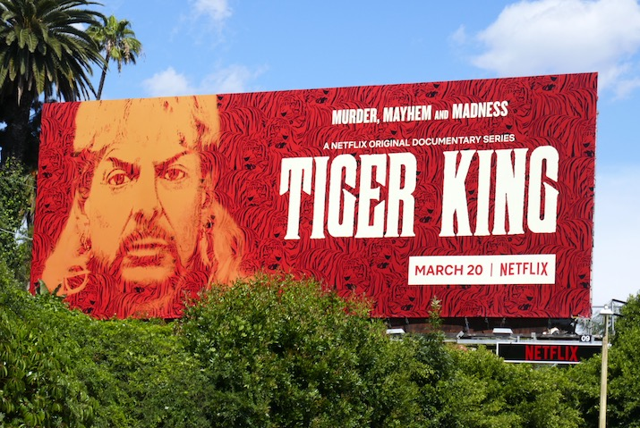 Tiger King Murder, Mayhem and Madness series billboard