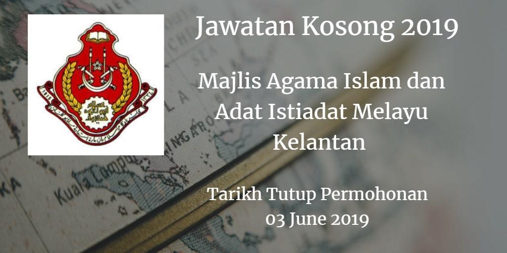 Jawatan Kosong MAIK 03 June 2019