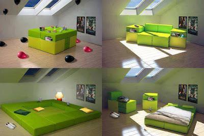 Increible mueble que cambia tu habitación según tus necesidades