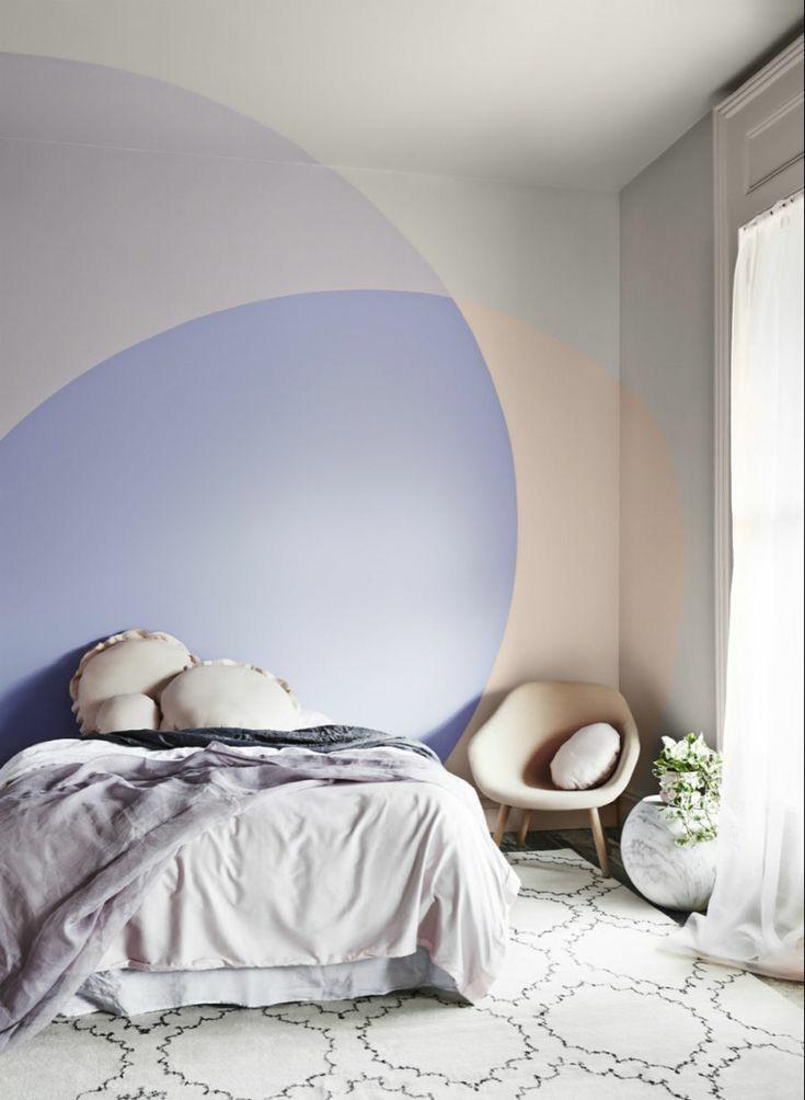 Como decorar o quarto com coisas simples  Pintando um círculo na parede do quarto