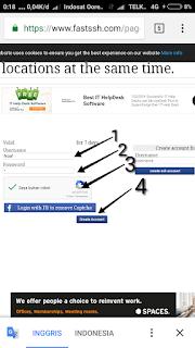 Cara mengisi akun SSH SSL/TLS