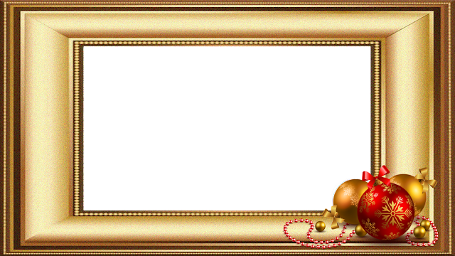 Natal 2 -Moldura dourada 2 FHD
