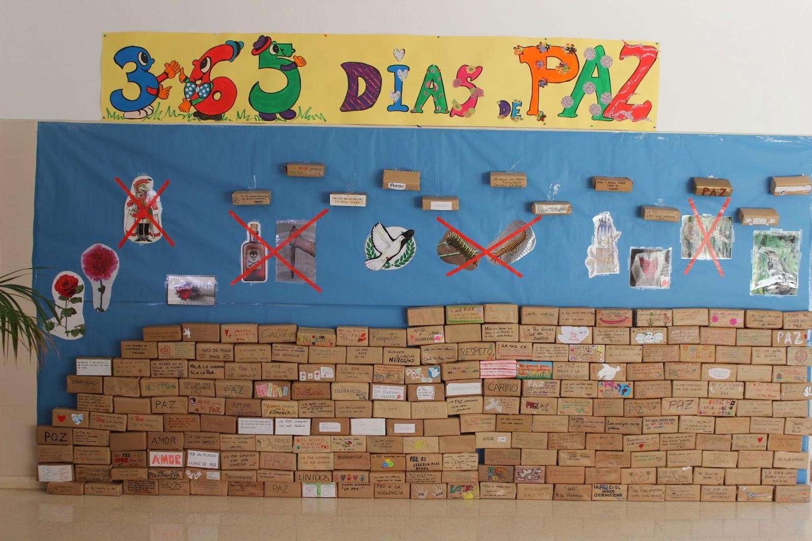 Igualdad En El Ceip Manuel De Falla De Peligros Las Familias De Infantil Construyen Un Muro Por La Paz