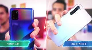 Galaxy A31 VS REDMI NOTE 8