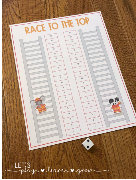 Race to the Top of the Ladder Counting Activity