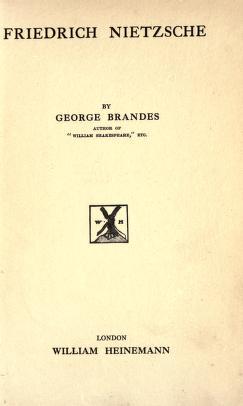 Friedrich Nietzsche 1914 Free PDF book