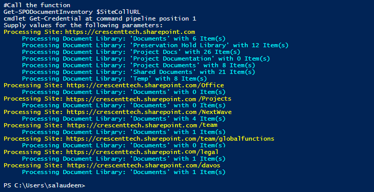 sharepoint online powershell list all documents
