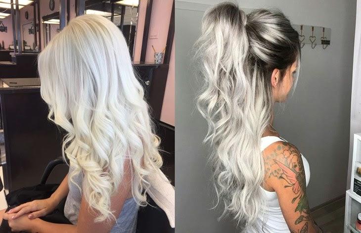 cabelo platinado raiz escura