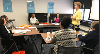 Cathy Littlefield presents to corporate partner, Beneficial Bank