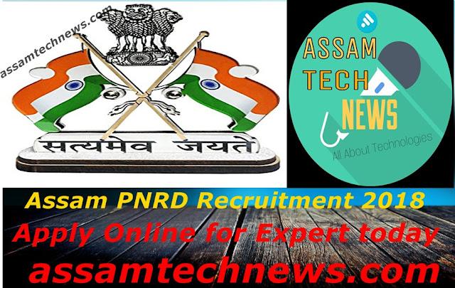 PNRD Assam Recruitment 2018 – Apply Online for Expert