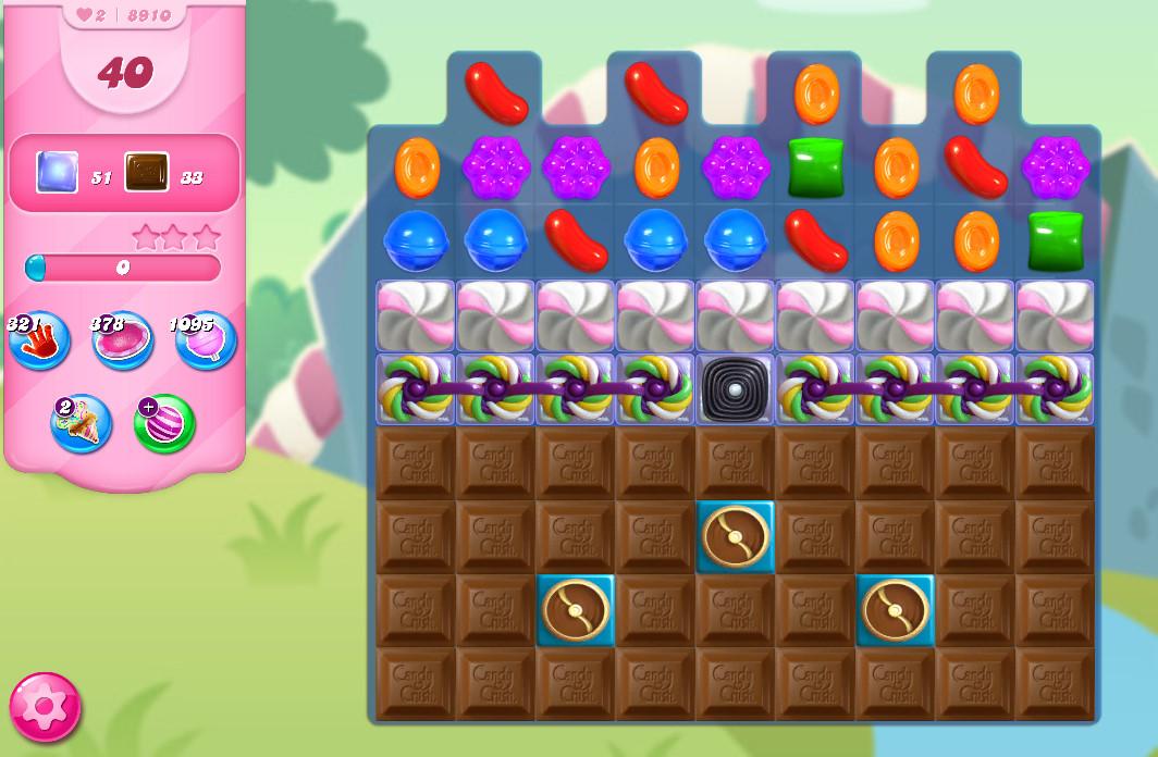 Candy Crush Saga level 8910