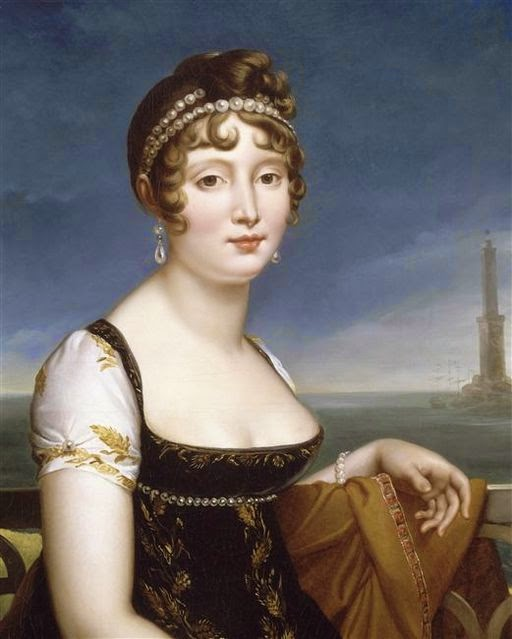 Caroline Bonaparte Murat before the Bay of Naples by François Gérard
