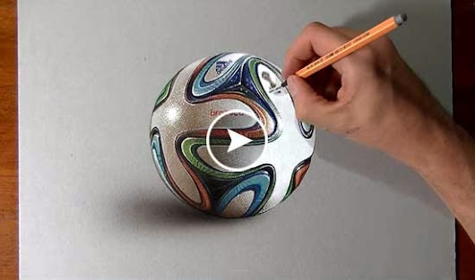 Hyperrealistic Drawing Art of Brazuca FIFA Football