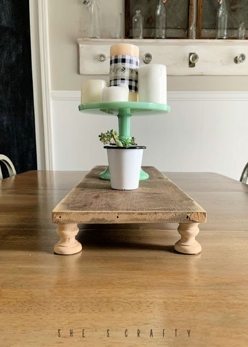 How to make a Riser for your table - dining room table centerpiece
