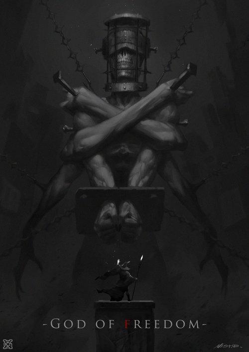 Xiao Gui Mist (mist xg) artstation ilustrações fantasia ficção científica games terror mulheres sombrio