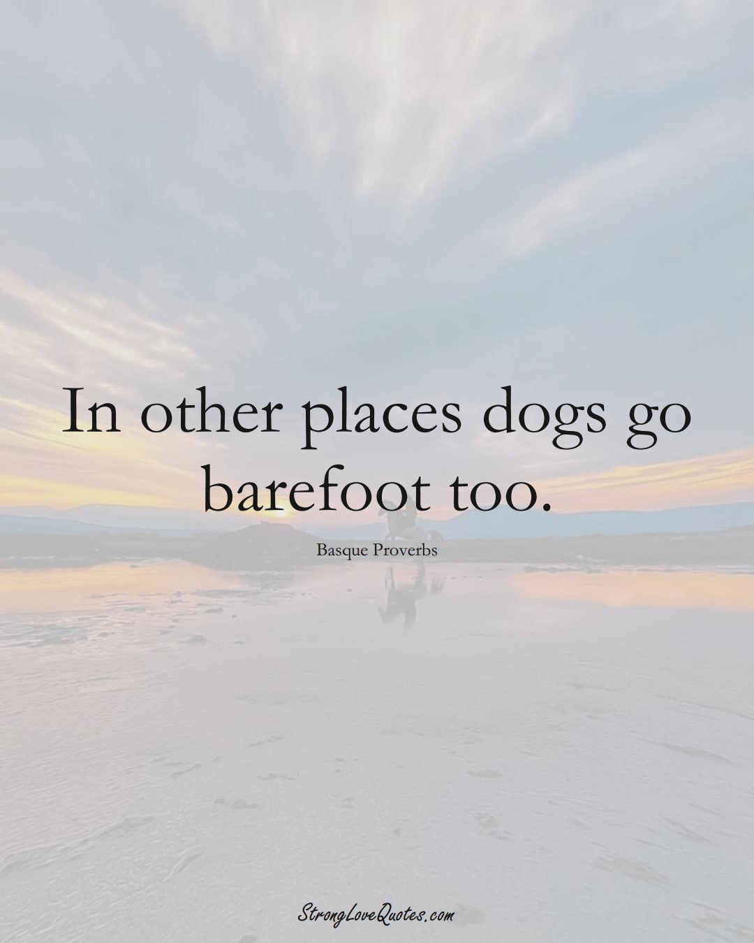 In other places dogs go barefoot too. (Basque Sayings);  #EuropeanSayings