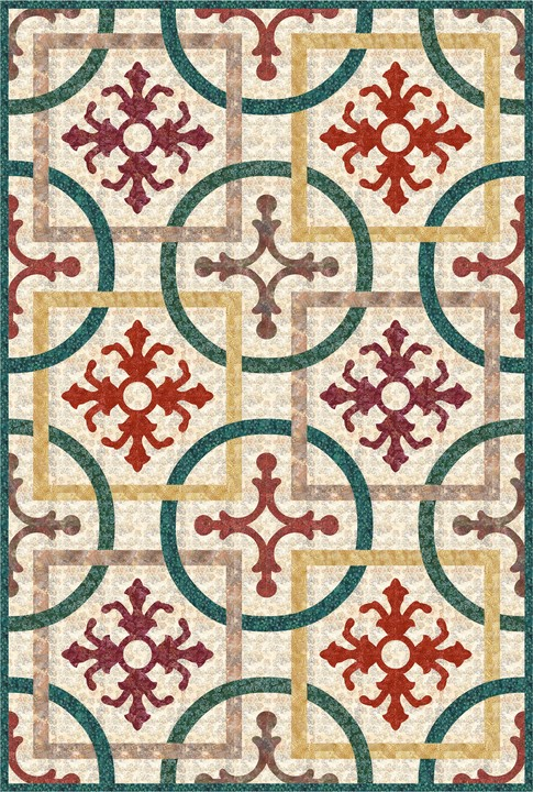 Vigneto Classico Quilt designed By Robert Kaufman Fabrics for Bear Creek Quilting Company