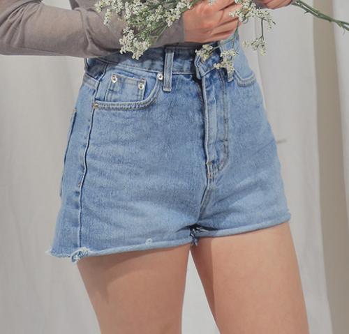 High-Rise Cutoff Denim Shorts