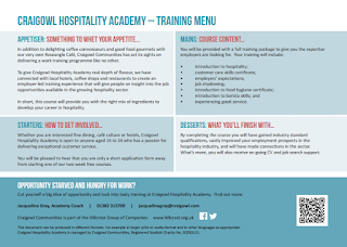 Craigowl Communities Hospitality Academy 2