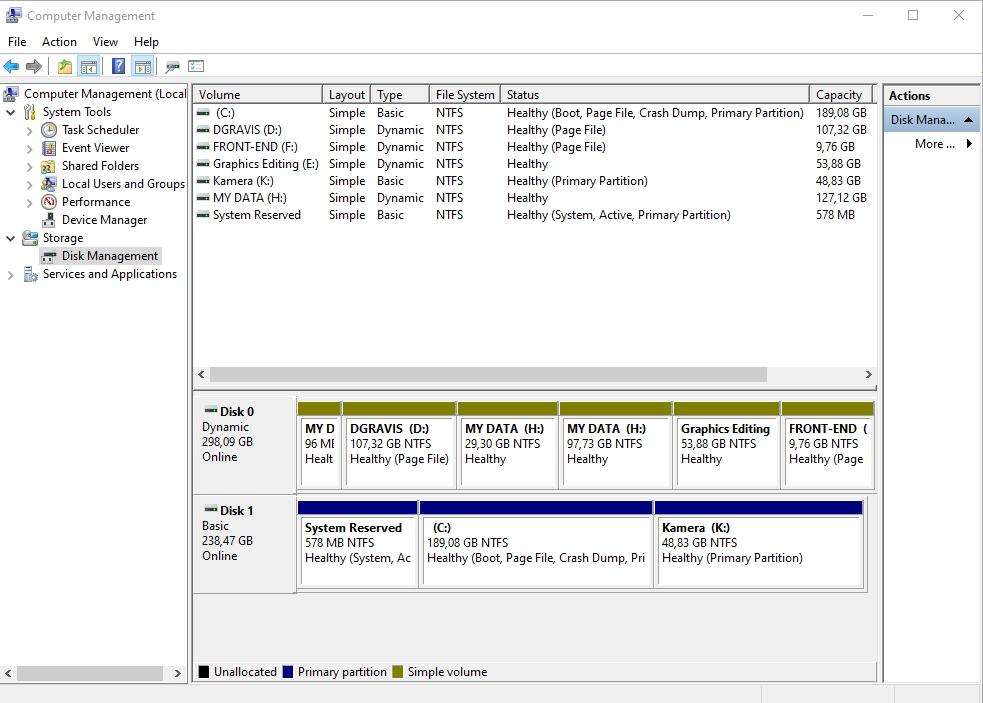cara membagi partisi windows 10 tanpa menghapus data