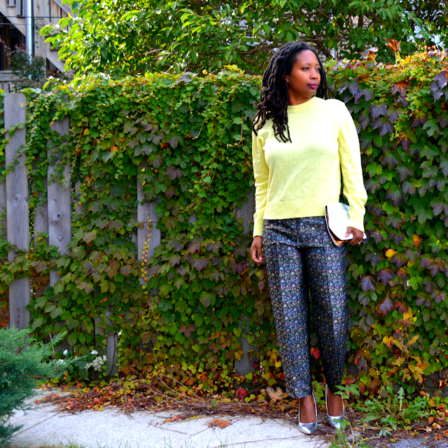 thrifted j crew style brocade pants