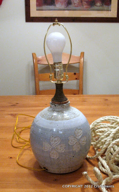 Craftiments.com:  Before Lamp