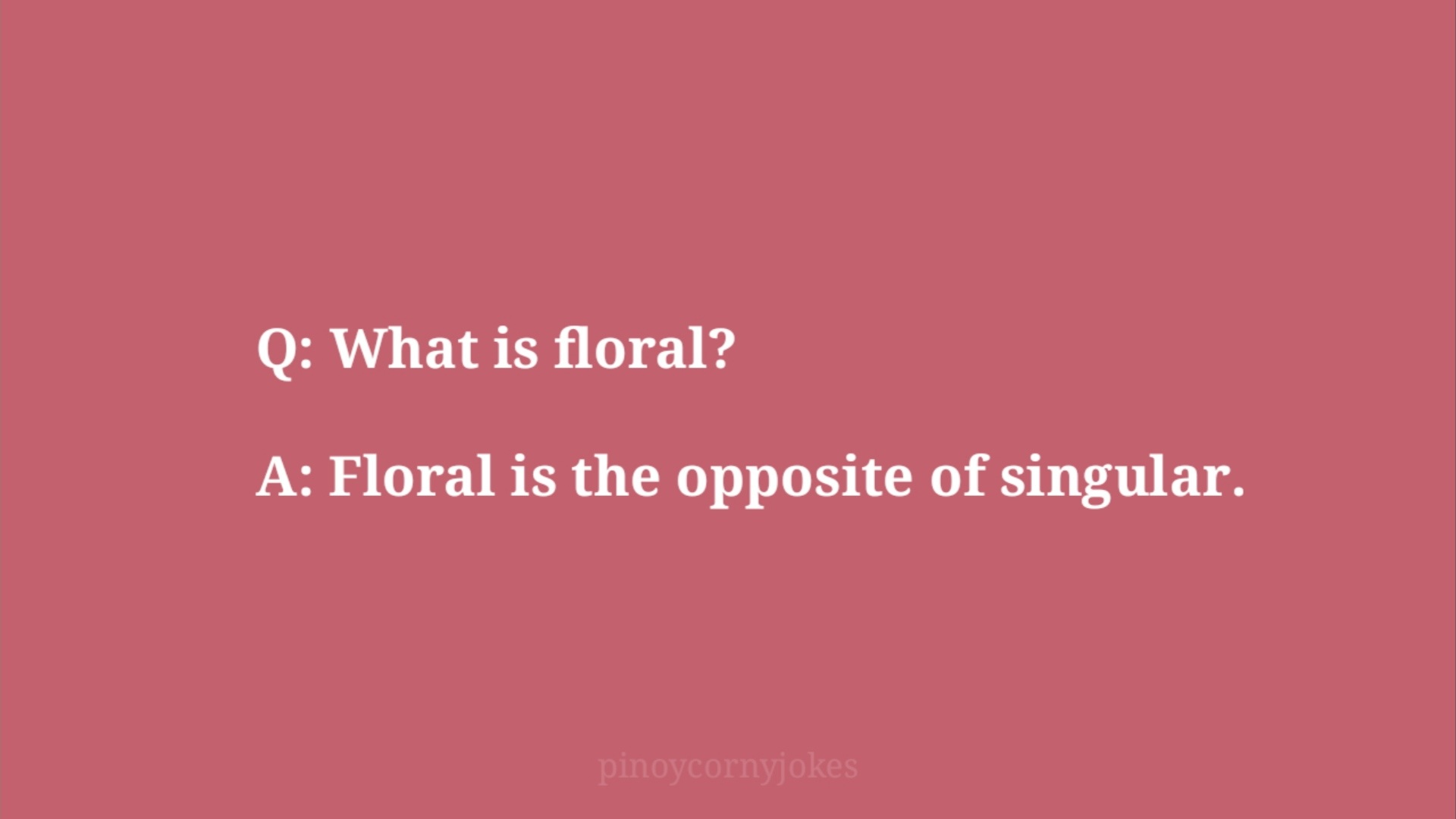 floral jokes time question and answer