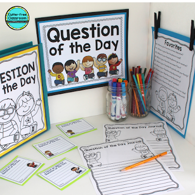 Are you looking for an easy elementary classroom morning routine that will make starting the school day fun? Try out these classroom management procedures, routines, strategies, techniques, and ideas from the Clutter Free Classroom for morning meeting in a responsive classroom, circle time, bell work, calendar, daily schedules, activities and more! #classroommanagement #clutterfreeclassroom