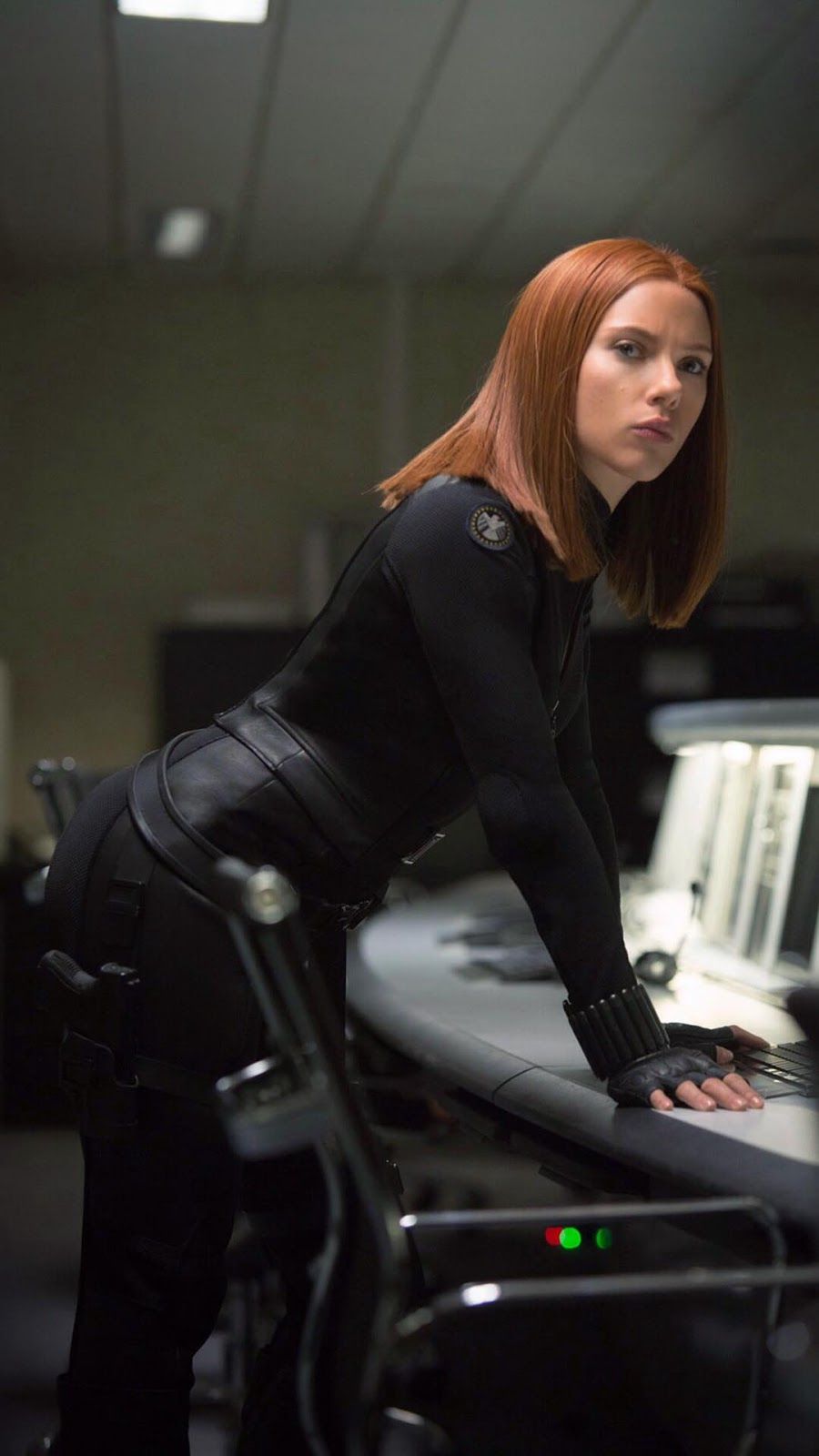 Black Widow Mobile Wallpaper Avenger Balck Dress